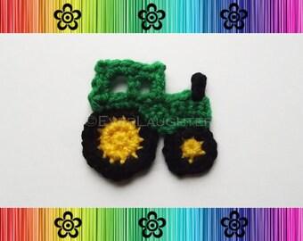 Tractor Applique - CROCHET PATTERN