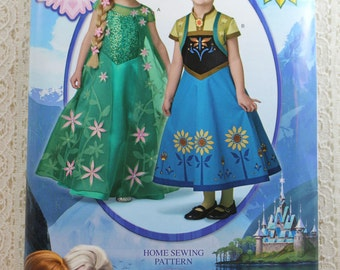 Simplicity 1097, Disney Frozen Child's Costume Sewing Pattern, Elsa and Anna Dress Pattern, Child's Size 3 - 8, New and Uncut