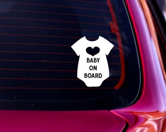 Baby on Board Decal, Car Decal, Baby on Board, Baby on Board Car Sticker, Vinyl Decal, Car Window Decal, Car Sticker, Baby Sticker, Decal