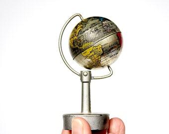 Vintage World Globe - Unique Gift for Him - Antique Globe Pencil Sharpener - Miniature World Globe - Cool Gift - Office Decor - Globe Decor