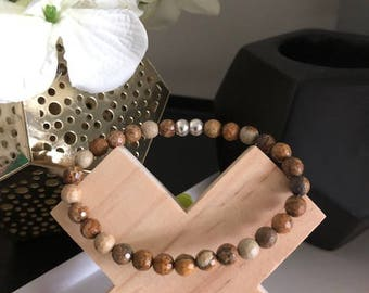 Jasper Faceted Natural Stone Bracelet