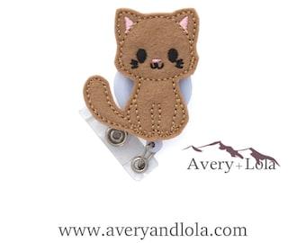 Cute Cat Badge Reel, Nurse Badge Reel, Cat Badge Reel, Cat ID Holder, ID Badge Holder, Teacher Gift, Nurse Gift, Vet Gift