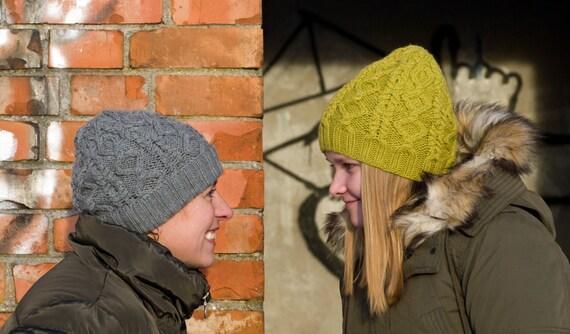 Pdf Knitting Pattern Knit Hat Pattern Wild Winter Hat