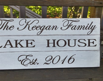 Custom Lake House Sign, Custom Family Name Sign,Large Woden Sign, Beach house, vacation house
