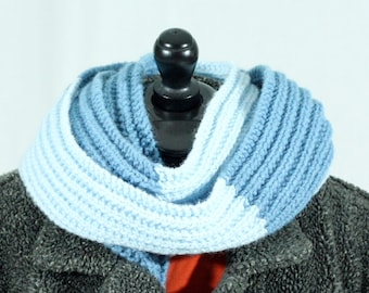 The Blues Handknit Ribbed Scarf