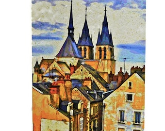 4 Photo Cards Set - Architecture, France - Blank Cards, Note Cards, All Occasion Cards of Travel Photography, Original Photos French Scenes