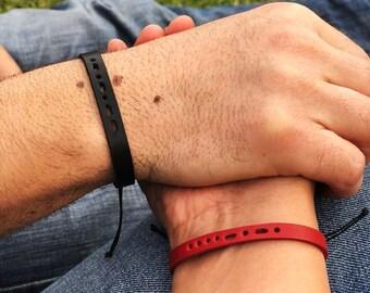 Morse Code Leather Bracelet, Morse Code, Valetie's Day Gift Idea, Leather Morse Code Bracelet