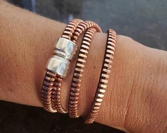Wrap Rose Gold Zipper Bracelet