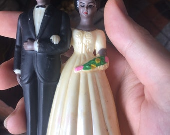 1960s African-American Cake Topper