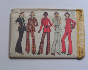 Vintage Simplicity Pattern  5247  Misses Jacket Shirt Pants