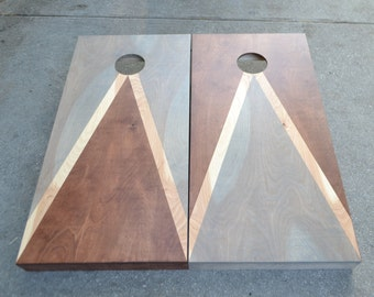 Cornhole Boards Custom Stained Full Size Corn hole Boards with Bags /Lawn Games /Corn Toss /Wedding /Non Painted /Personalized /Company Logo