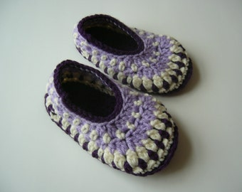 Ready to ship slippers, crochet slippers size 8-9, child slippers size 8-9, galilee slippers