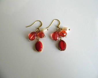 Candy red Teardrop Earrings