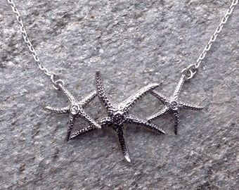 Sea Star Starfish  Necklace Sterling Silver