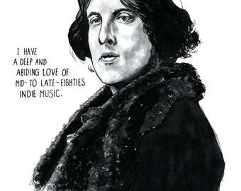 Oscar Wilde Portrait Poster Print, As Seen on HBO's 'Girls', 80s Indie Music Poster, Home Decor, Wall Art, Writer Literary Print