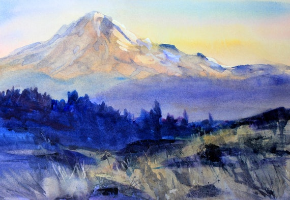 Mt. Hood 285 - signed watercolor print of Mt. Hood by Bonnie White - Mid-Columbia - Columbia Gorge Scenic Area