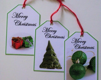 Christmas gift tags pack of 3