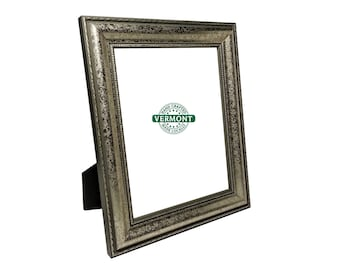 8x10 Silver Photo Frame, Ornate Silver Picture Frame, 8 x 10 Picture Frames, 8x10 Photo Frame Silver, Classic, 8 in x 10 in, Table Top Frame