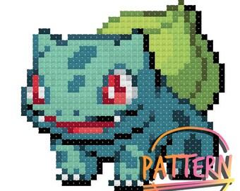 Bulbasaur Pokemon Cross Stitch Pattern