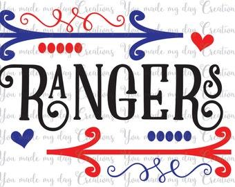 Texas Rangers Svg Etsy