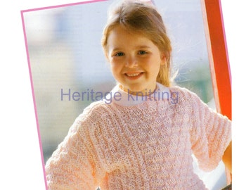 girls child jumper dk and 5 ply knitting pattern