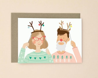 Illustrated Christmas Card A6