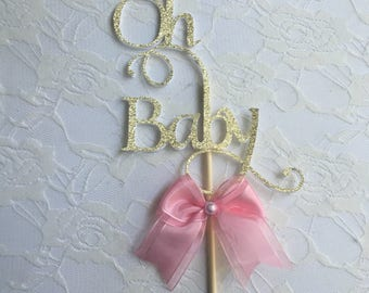 Oh Baby Cake Topper- Baby Shower Cake Topper - Cake Topper-Custom Cake Topper
