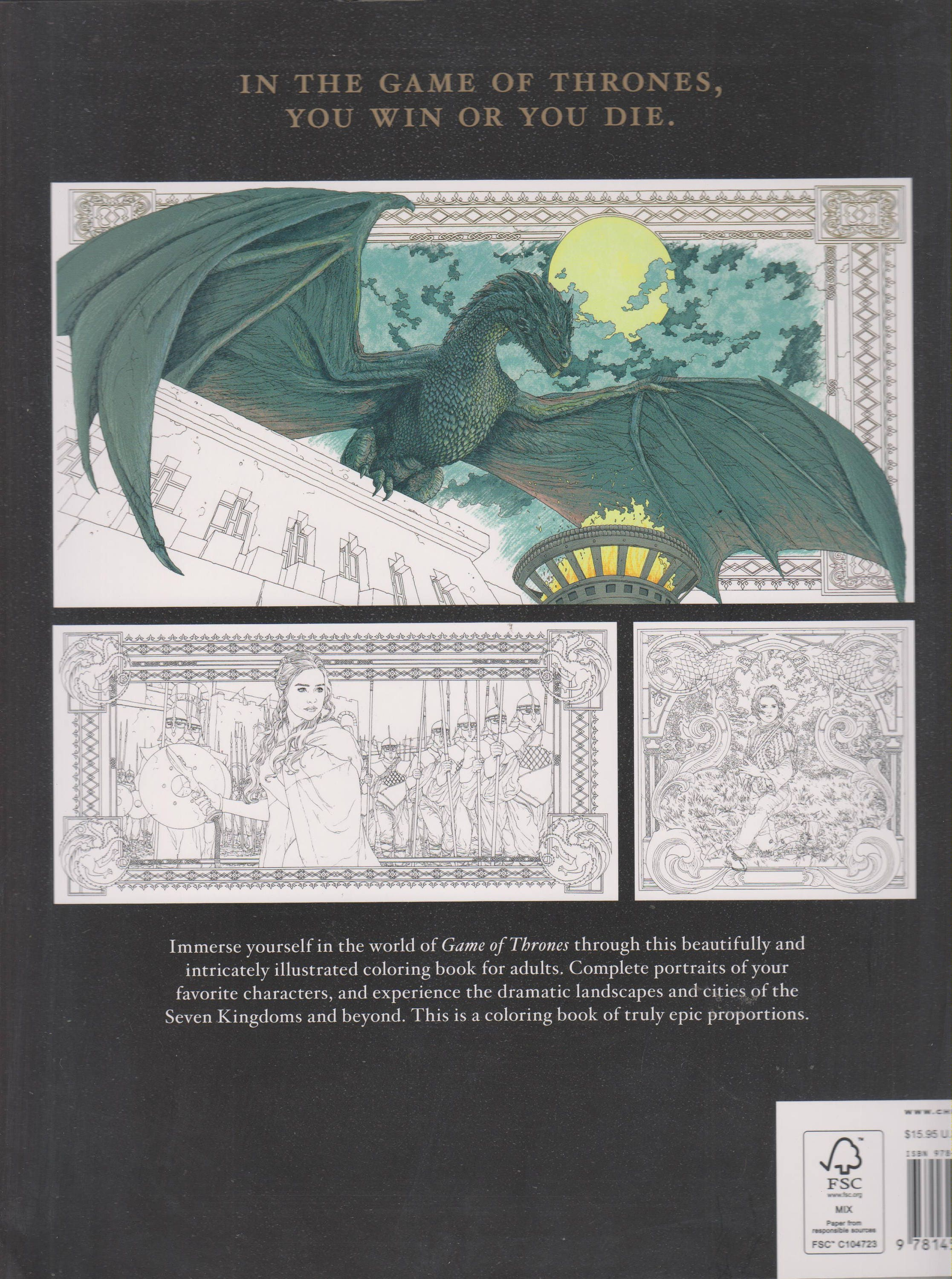 HBOs Game Of Thrones Coloring Book First Edition