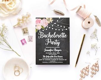 Bachelorette Party Invitation Floral Invitation Bachelorette Party Invite Printable Girls Night Out Invite Party Invitation #CL104