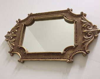 Vintage Ornate Wall Mirror/Mid-Century Modern/Shabby Chic/French Farmhouse/home decor/Scroll/Art Deco