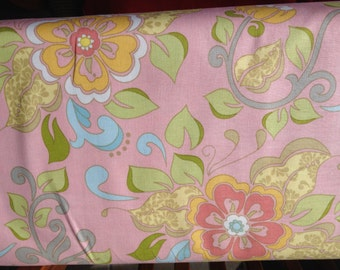 SALE Priscilla Main Pink by Lila Tueller for Riley Blake