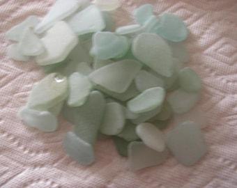 Seafoam sea glass, 50 Medium to large seafoam genuine sea glass  beach glass