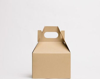 MEDIUM Kraft Gable Boxes (10), Wedding Favor Box, Guest Gift Box, Party Favor