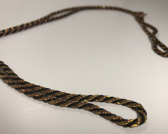 Vintage multitoned braided chain necklace