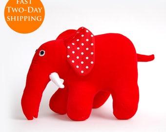 Max And Ruby, Stuffed Elephant, Plush Elephant, Red Rubber Elephant, Red Plush Elephant, Birthday Party Toddler Elephant