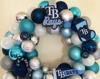 Tampa Bay Rays Ornament Wreath