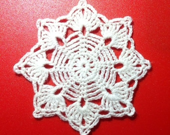 D-44(3) Crochet Lace Doily Christmas Snowflake Ornaments New Year mini Small Doily The price is for ONE SNOWFLAKE