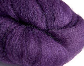 Merino Amethyst Wool Roving 100 grams