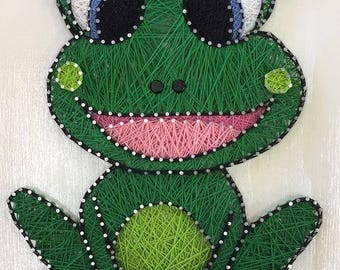 Frog Princess Custom String Art