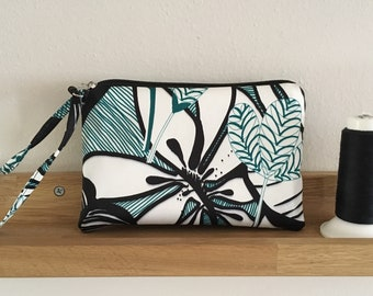 Bag in fabric and faux leather cell phone