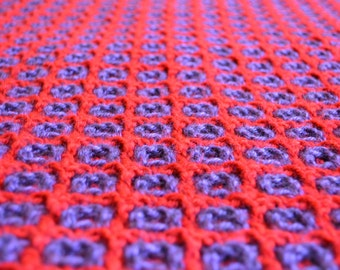 Block Crocheted Blanket