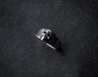 3D Skull Ring | silver skull | sterling silver ring | human skull | handmade skull | statement skull ring | man gift | skull jewelry | 925