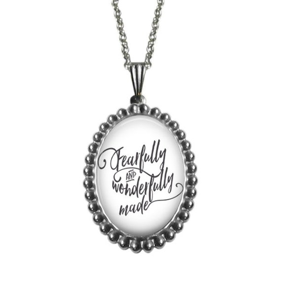 Psalm 139 Necklace - Catholic Jewelry Gifts - Fearfully and Wonderfully Made Psalm 139