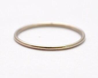 White Gold Wedding Band: 14K Thin Ring