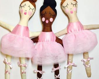 Ballerina, Ballet, Handmade doll, Rag doll, Dolly, Princess ragdoll, Dancer, Ballerina doll, cloth doll, heirloom doll