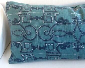 SEVILLE pillow cover 18x18 20x20 22x22 24x24 26x26 13x26 12x20 prussian blue