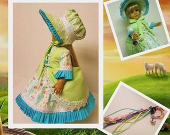 Costume Little Bo Peep avec accessoires - poupées American Girl s'adapte