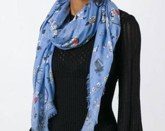 Modal Scarf - Blue Poetry by VIDA VIDA IJARl