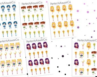 CDP07 Sailor Moon  | Erin Condren Planner Sticker | Diary Stickers | Filofax Sticker
