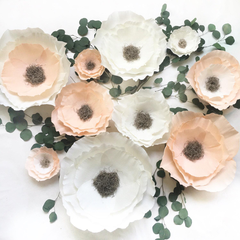 Boho Crepe Paper Flower Set-Nursery Wall Flowers-Paper